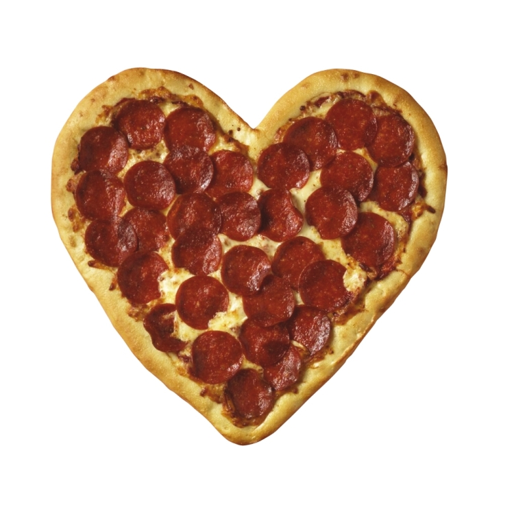 When Valentine's Day and PIzza Night meet...