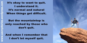 My friend's husband on a rock. Quote by me. Cos I can.