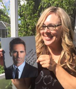 Sharon also met actor Nestor Carbonell from Lost and Bates Motel