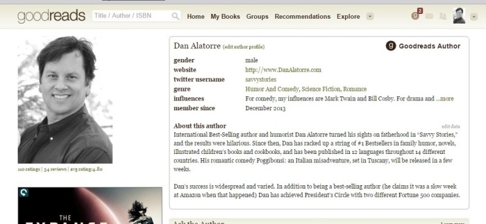 Goodreads profile pic