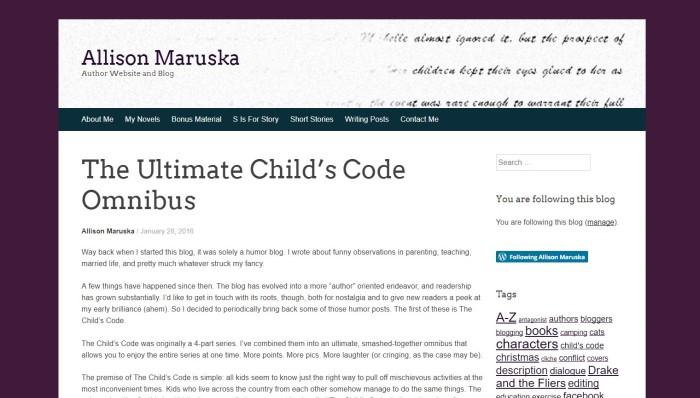 allison child code