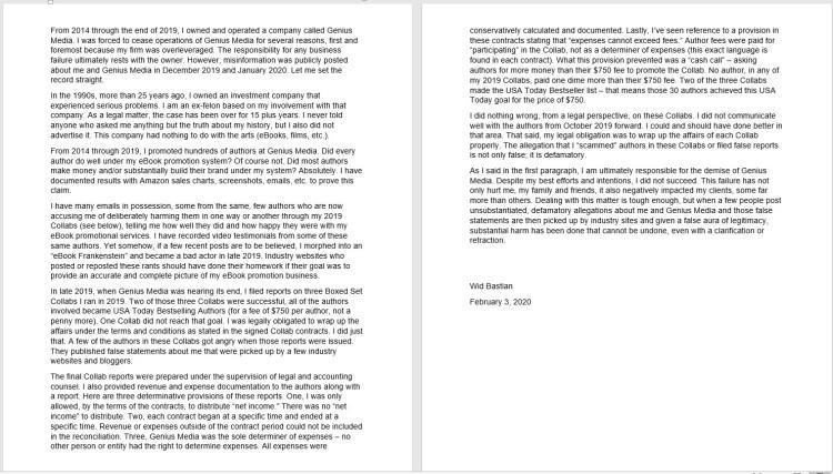 wid lies letter explaining bankruptcy