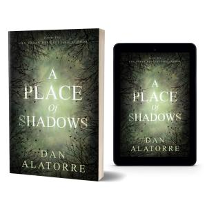 PLACE OF SHADOWS tablet and 3D paperback